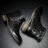 Men's Handmade Retro Leather Ankle Boots