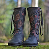Women 's Retro Casual Comfortable Handmade Button Leather Boots