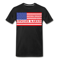 Upstate Karate Flag Red, White, & Blue T - Pitch Black Fight Shop