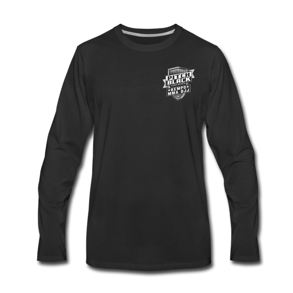 Pitch Black Shield Long Sleeve Shirt - Pitch Black Fight Shop