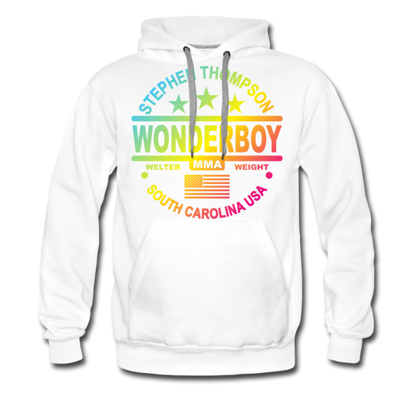 Wonderboy Color Fade Men's Premium Hoodie - white