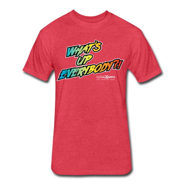 Wonderboy What's Up Everybody?! Text Only T-Shirt by Next Level - heather red