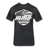 MMA Stars & Stripes T-Shirt by Next Level - heather black