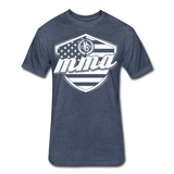 MMA Stars & Stripes T-Shirt by Next Level - heather navy
