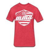 MMA Stars & Stripes T-Shirt by Next Level - heather red