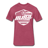 MMA Stars & Stripes T-Shirt by Next Level - heather burgundy