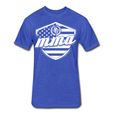 MMA Stars & Stripes T-Shirt by Next Level - heather royal