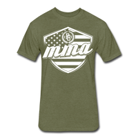 MMA Stars & Stripes T-Shirt by Next Level - heather military green