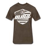 MMA Stars & Stripes T-Shirt by Next Level - heather espresso