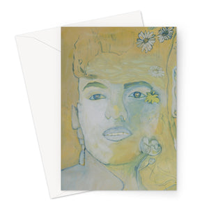 Three faces Greeting Card