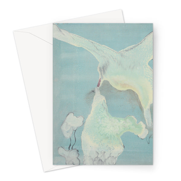 A A5 greetings card printed with a picture of Arctic terns. Gallery Sesselja