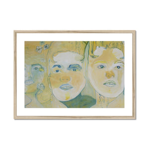 Three faces Framed & Mounted Print