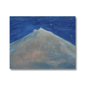 Painting of Snæfellsjökull, oil painting on canvas. A contemporary art painted by the Icelandic painter Sesselja Tomasdottir.