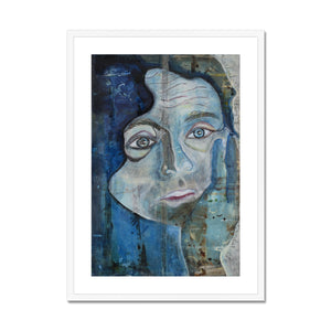 Indigo Framed & Mounted Print