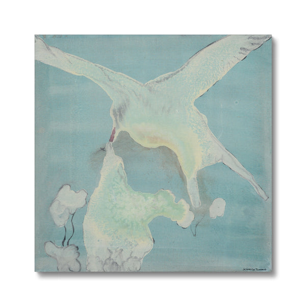 Oil painting on canvas of Artic terns. Gallery Sesselja