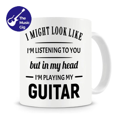 TheMusicGig Distracted Guitar Mug