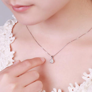 floral-shaped crystal necklace pendant - onekfashion