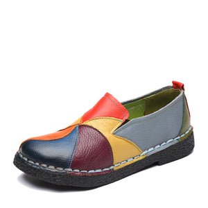 National handmade colorful leather shoes