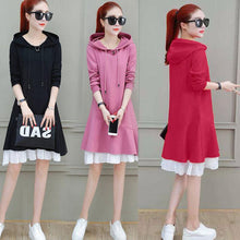 Load image into Gallery viewer, 【Hot  sale】Fashionable scallop hooded dress ,Three colors , Size:M-4XL
