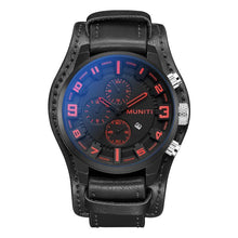 Load image into Gallery viewer, MUNITI newest leather waterproof business leisure watch - onekfashion