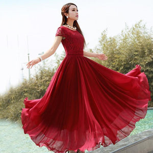 Newest big-hemlined dress 2019 - onekfashion