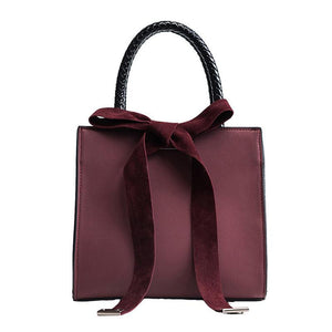 French branded female lady handbag with bowknot - onekfashion