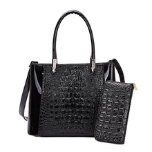 Load image into Gallery viewer, Crocodile lady handbag from Thailand coming with a free wallet - onekfashion