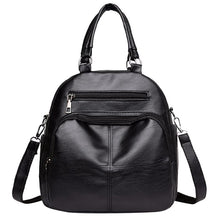 Load image into Gallery viewer, Women's Multi Function Leather Backpack Shoulder Bag Fashion Handbag
