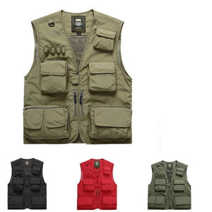 【50% OFF】Outdoor Lightweight Mesh Fabric Vest With 16 Pockets
