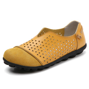 2020 Summer styled curved breathable non-slid leather sandals