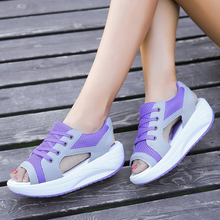 Load image into Gallery viewer, Summer platform casual sandals mesh shoes