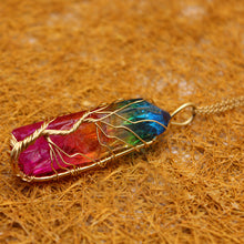 Load image into Gallery viewer, Tree of Life Crystal Stone Necklace