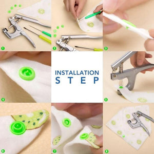 Snap Button DIY Set (240 Pcs Set)