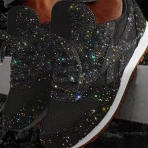Muffin Rhinestone New Crystal Platform Sneakers