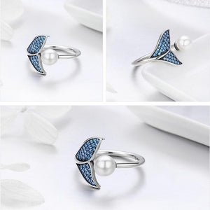 925 Silver Mermaid Tail Rings - onekfashion