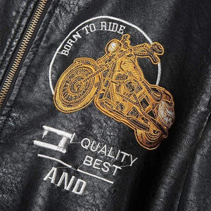 Motorcycle Locomotive Leather Jacket