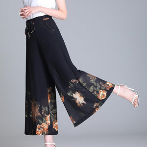 Hot Sale🔥Luxurious printed silky loose pants