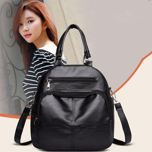 Women's Multi Function Leather Backpack Shoulder Bag Fashion Handbag