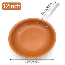 Load image into Gallery viewer, Non-stick Copper Frying Pan