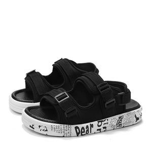 Double-velcro outdoor sandal【Free one electronic watch】
