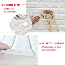 Load image into Gallery viewer, 【5Pcs】3D Brick Waterproof Wall Stickers