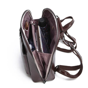 Vintage Leather Backpack Travel Bag - onekfashion