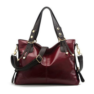 Large- capacity American leather lady bag - onekfashion