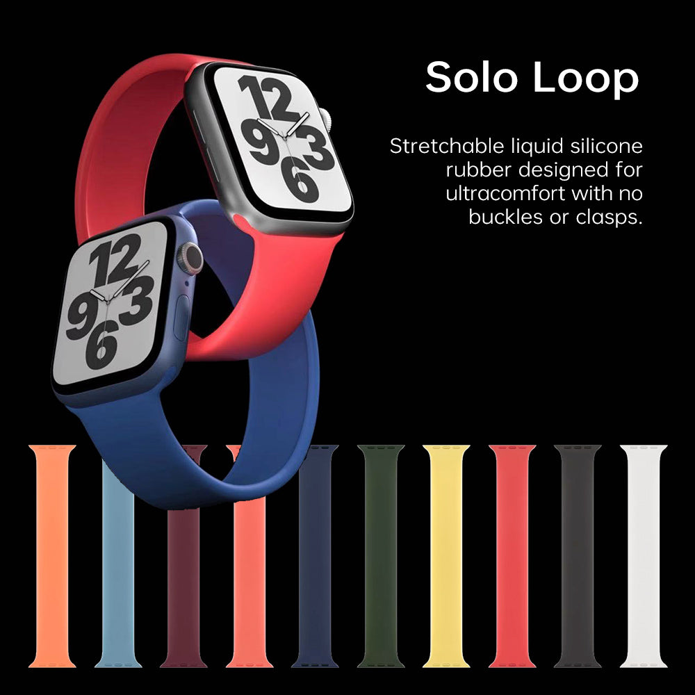 Solo Loop for Apple Watch Band 38 40 42 44mm Elastic Belt Silicone bracelet