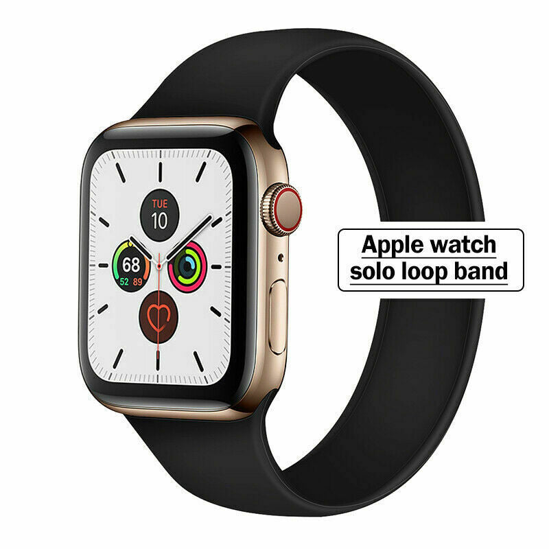SOLO Elastic Belt Loop Silicone Strap for Apple Watch SE 6 5 4 3 2 1 iWatch Band