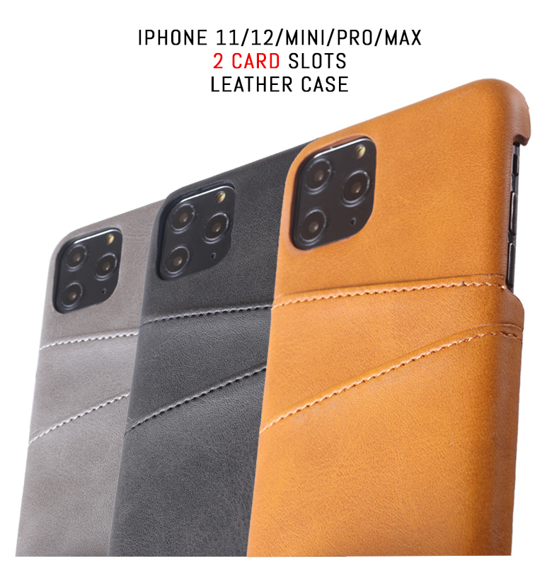 Apple iPhone 12 Mini Pro Max Leather Wallet Card Holder Shockproof Case