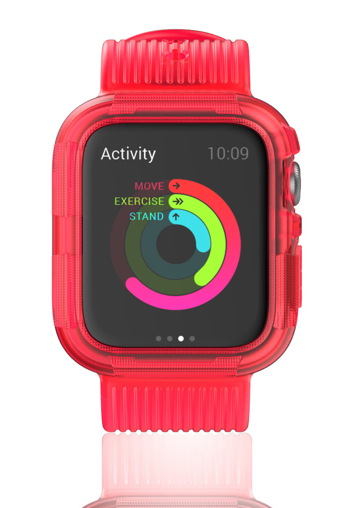 Transparent Protective Case with Band For Apple Watch 4 5