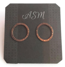 Load image into Gallery viewer, Copper and sterling silver stud earrings