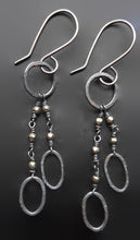 Load image into Gallery viewer, Sterling silver and pyrite handmade dangle earrings