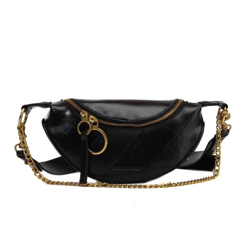 Fashion Quality PU Leather Crossbody Bags For Women 2019 Chain Small Shoulder Messenger Bag Lady Travel Handbags and Purses